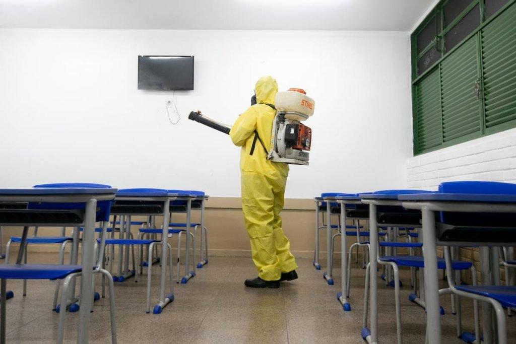 Escolas públicas passaram por higienização