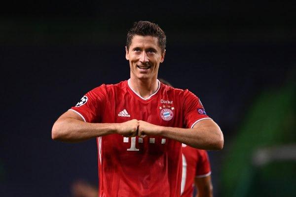 Lewandowski Bayern comemoração
