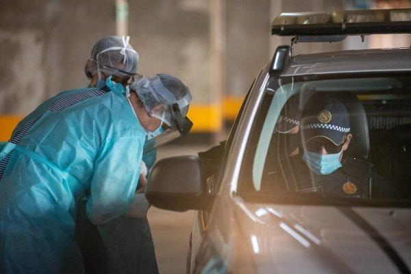 PM policia faz teste de coronavirus covid 19