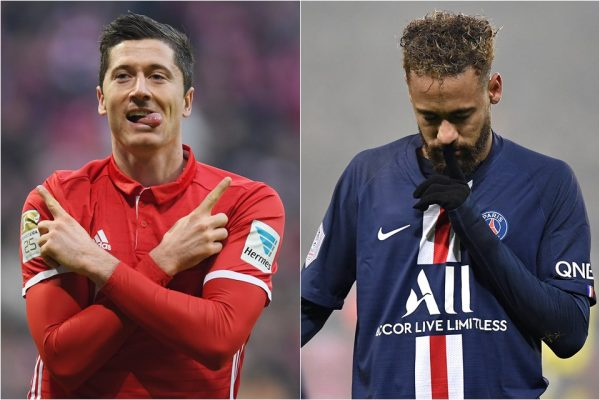 Lewandowski e Neymar