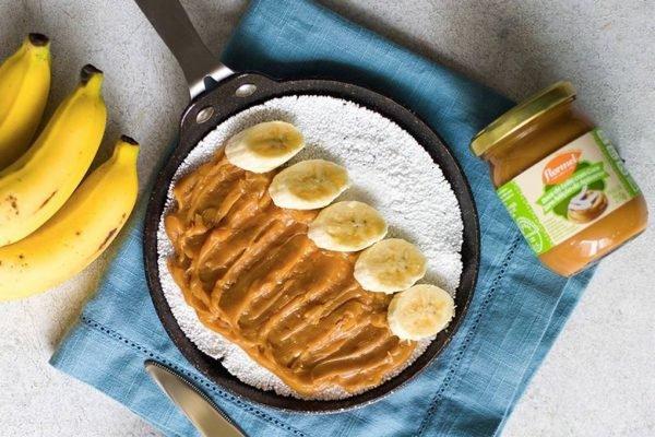 Tapioca com banana e doce de leite da Flormel