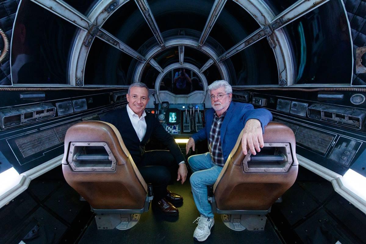 Bob Iger e George Lucas