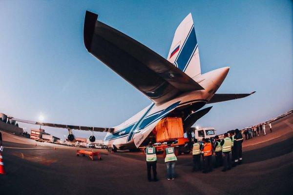 Antonov pousa no Aeroporto de Brasília