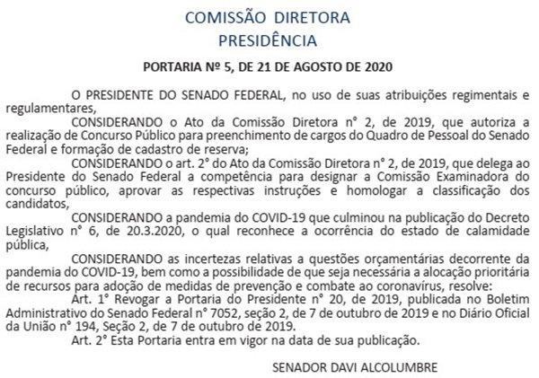 Extrato DOU 26/08/2020