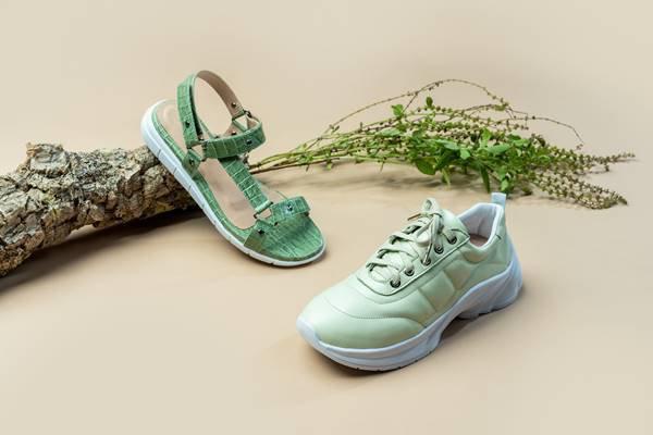 Papete e tênis verdes da Shoestock