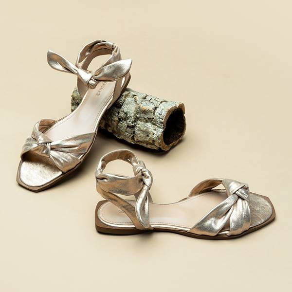 Rasteira metalizada da Shoestock