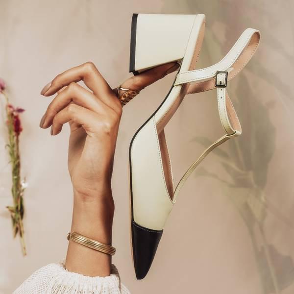 Sapato preto e branco da Shoestock