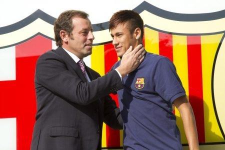 Neymar e Rosell juntos