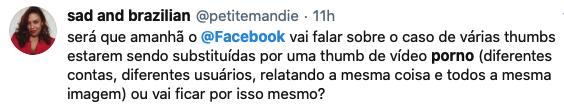 tweet sobre problema do facebook
