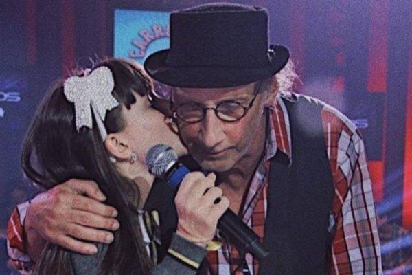 Larissa Manoela e Arnaldo Saccomani
