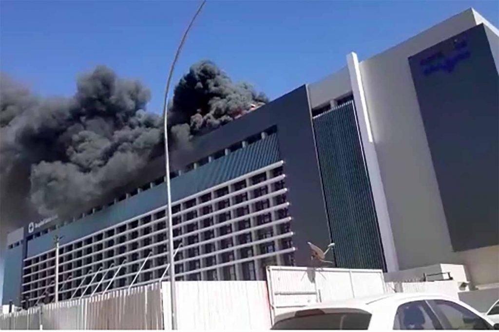 Incêndio no hospital Santa Luzia em Brasília5