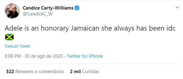 Tweet a favor de Adele