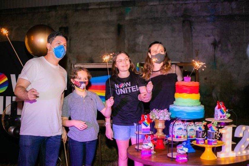 Felipe, Lucas, Isabela e Lucas John