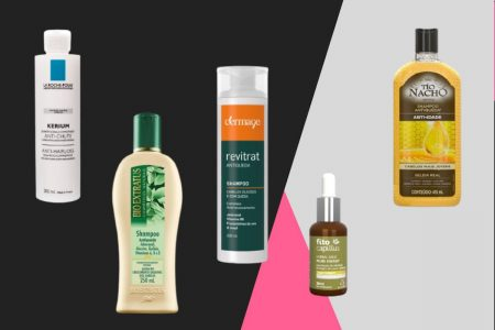 Vitrine M, lista de produtos para queda de cabelo