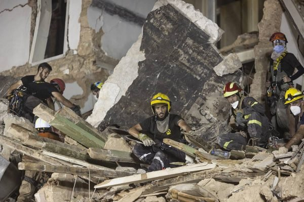 Rescue Crew Detect Person Under Collapsed Building In Beirut