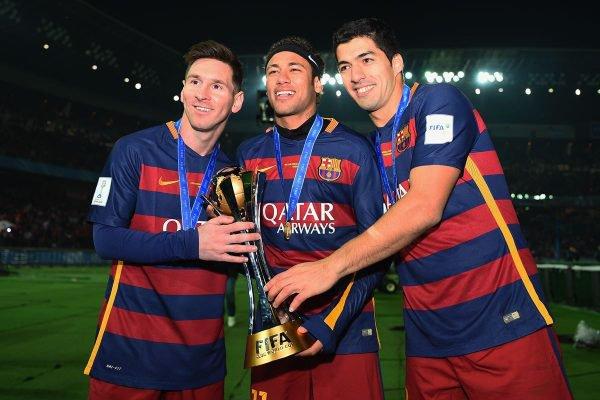 trio MSN Messi, Neymar e Suárez
