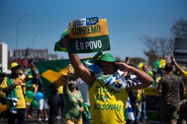 Manifestação 7 de setembro 2020 Esplanada dos ministérios - A favor de Bolsonaro