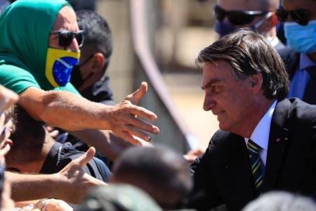 Bolsonaro cumprimenta apoiadores no 7 de Setembro