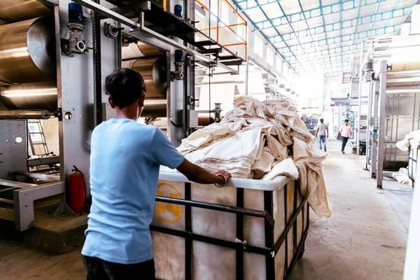 Trabalhador da indústria têxtil
