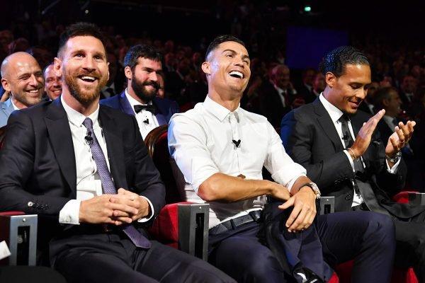 Messi e Cristiano Ronaldo no The Best