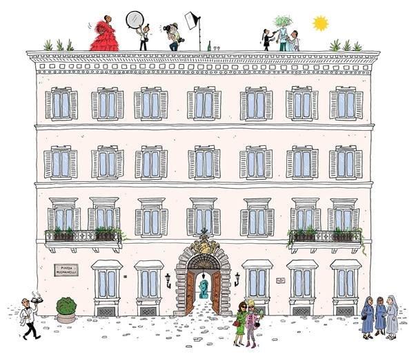 Ilustração de Joana Avillez para a Valentino