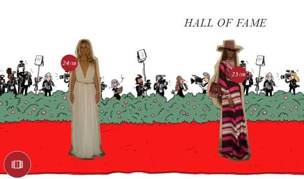 Gwyneth Paltrow e Naomi Campbell no hall da fama da Valentino
