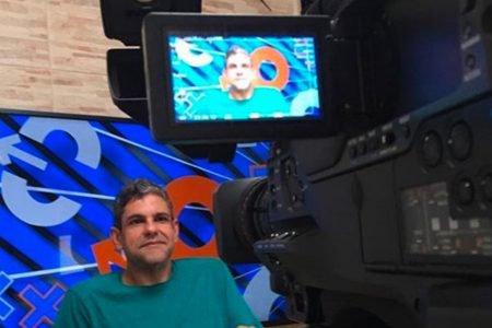 João Guilherme em gravação na Fox Sports