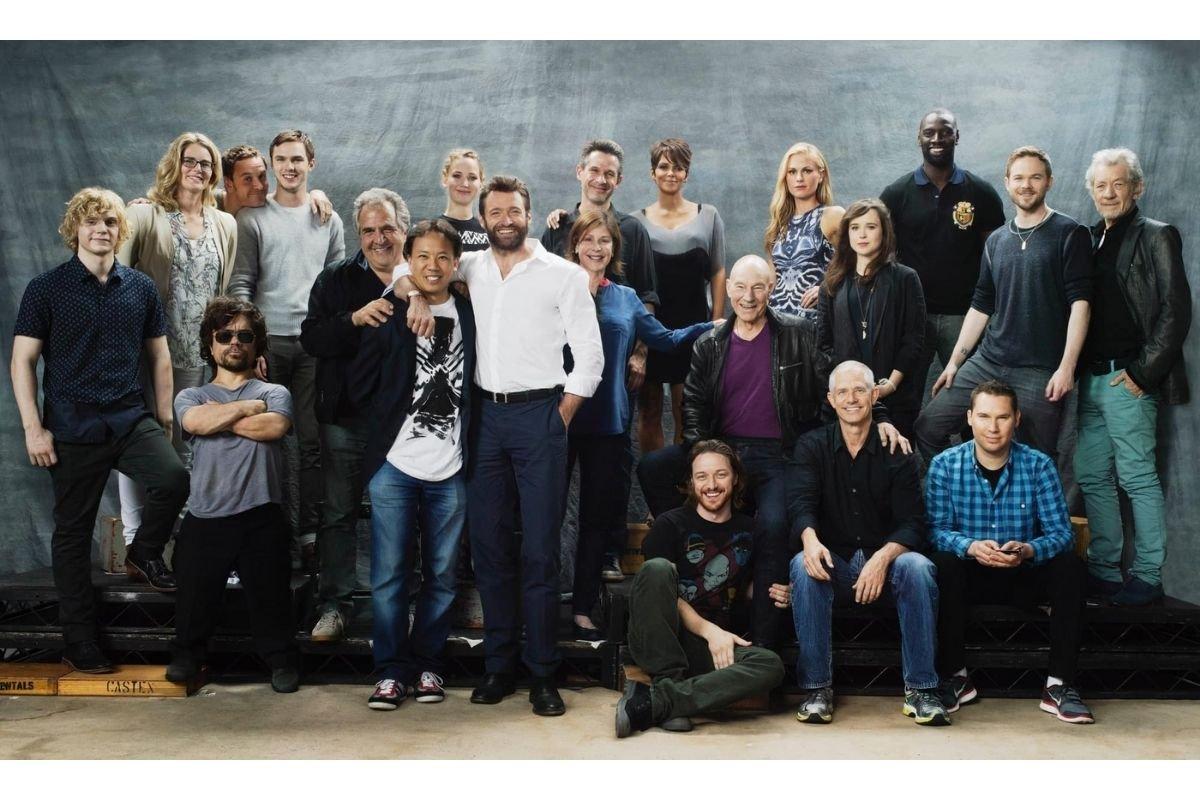 Jim Kwik com o elenco de X-Men