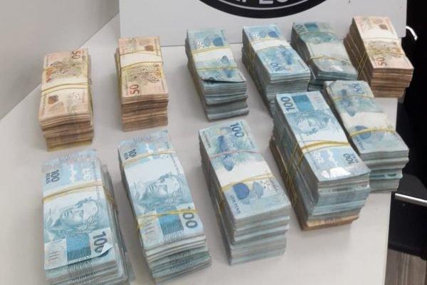 Dinheiro apreendido pela PF do Rio