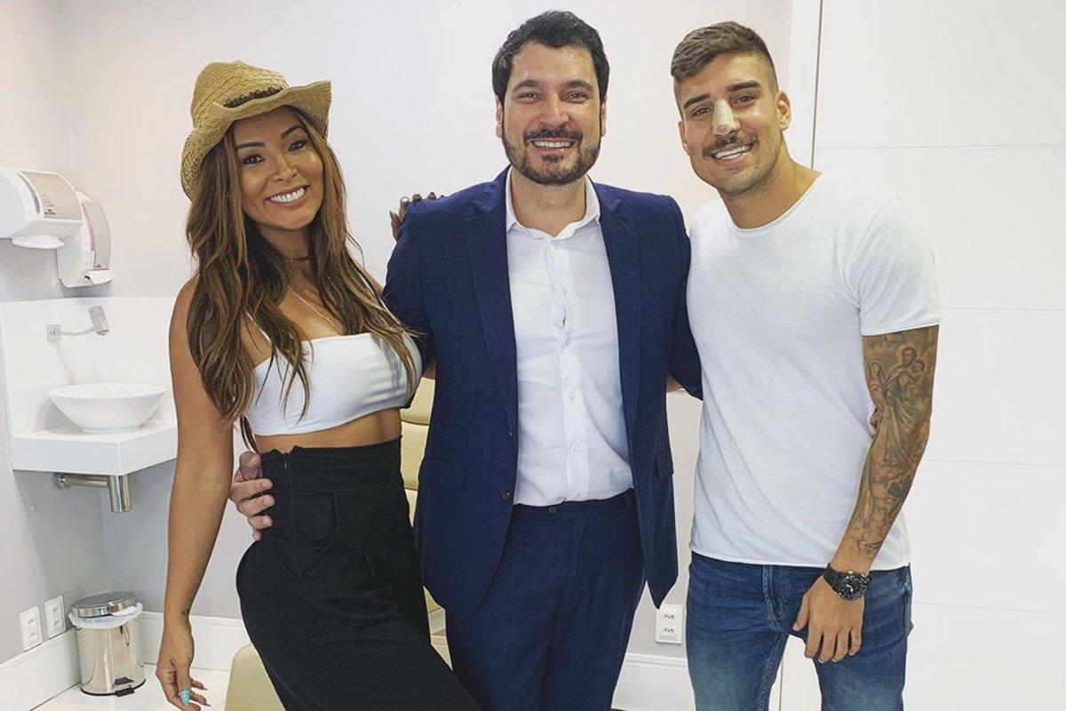 Carol Nakamura, Regis Ramos e Guilherme Leonel
