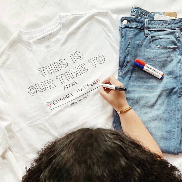 Camiseta customizável da american Eagle