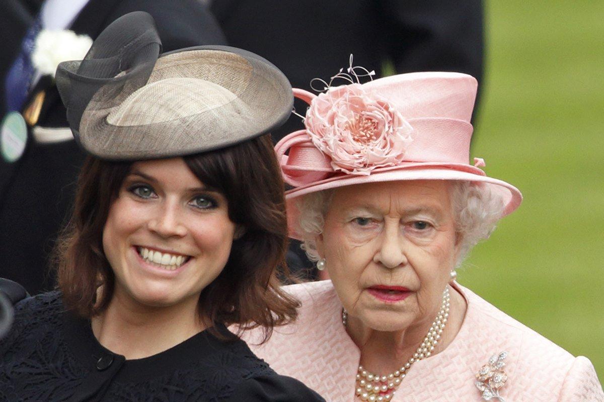 Princesa Eugenie e rainha Elizabeth