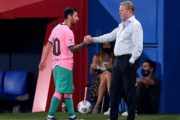 Ronald Koeman e Messi