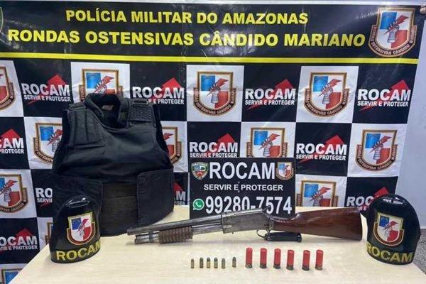 Jovem é detido com espingarda em Manaus