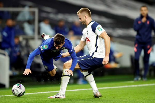 Eric Dier contra o Chelsea