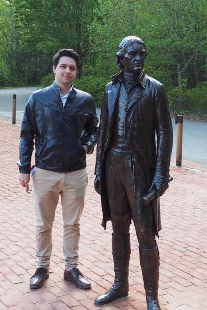 Felipe Pascoal durante estágio na Universidade da Virgínia (Charlottesville, 2019)