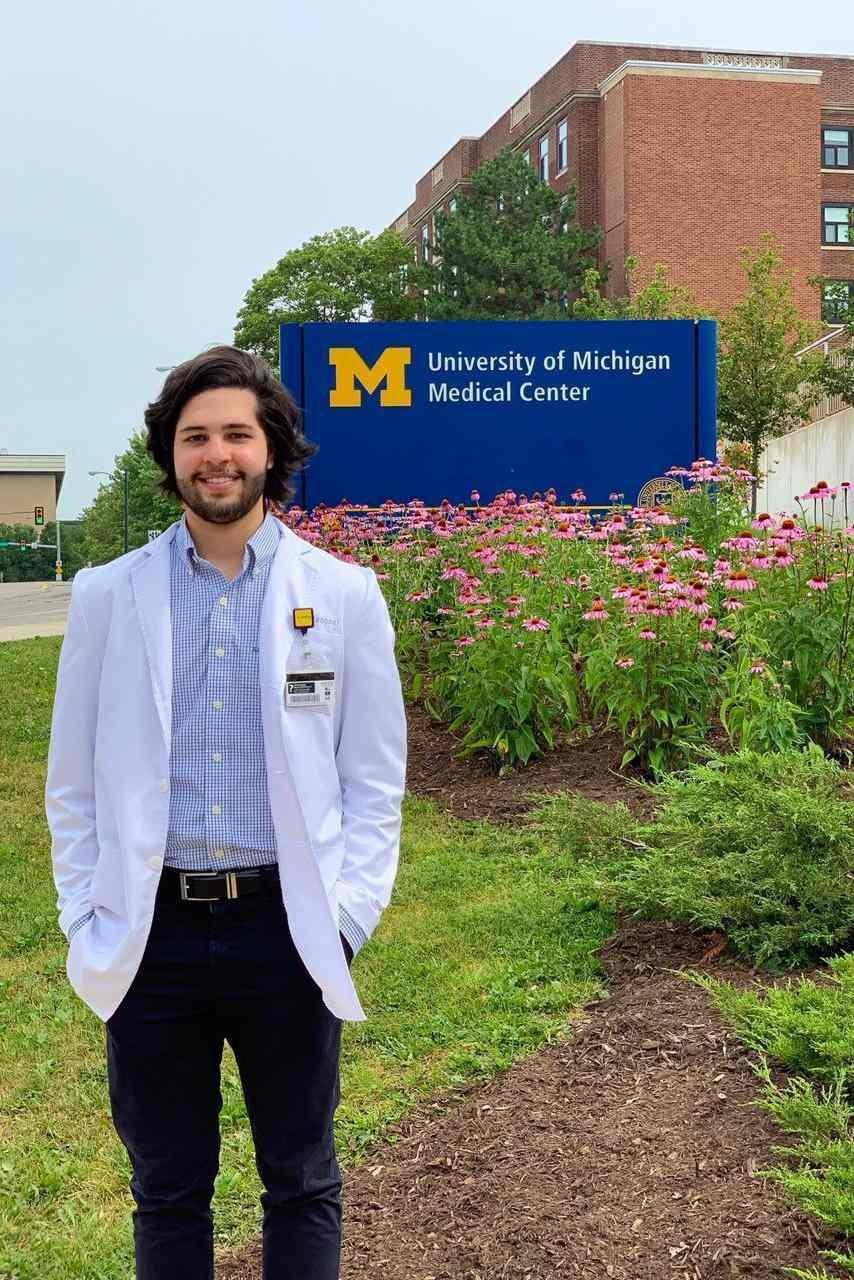 Pedro Pascoal durante estágio na Universidade de Michigan (Ann Arbor, 2019)