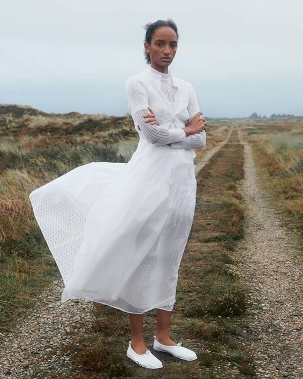 Look da marca Cecilie Bahnsen de primavera/verão 2021