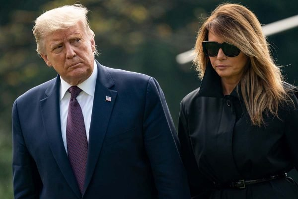 Donald Trump and first lady Melania