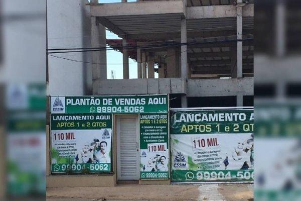 Obra embargada no Vicente Pires