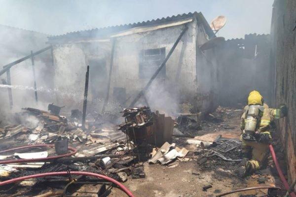 casa incendiada