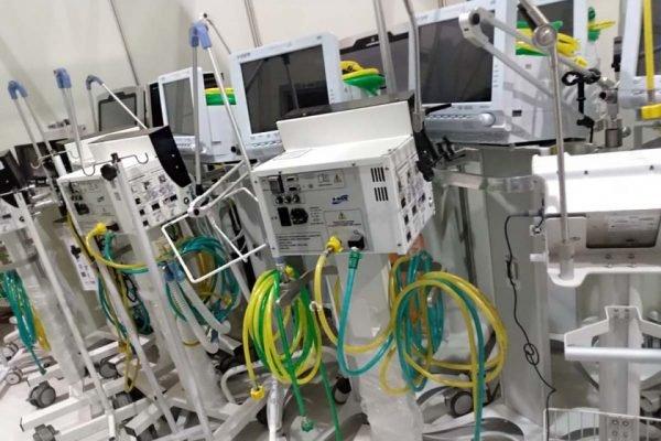 equipamentos hospital campanha aguas lindas
