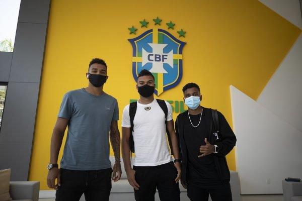 Danilo, Casemiro e Rodrygo