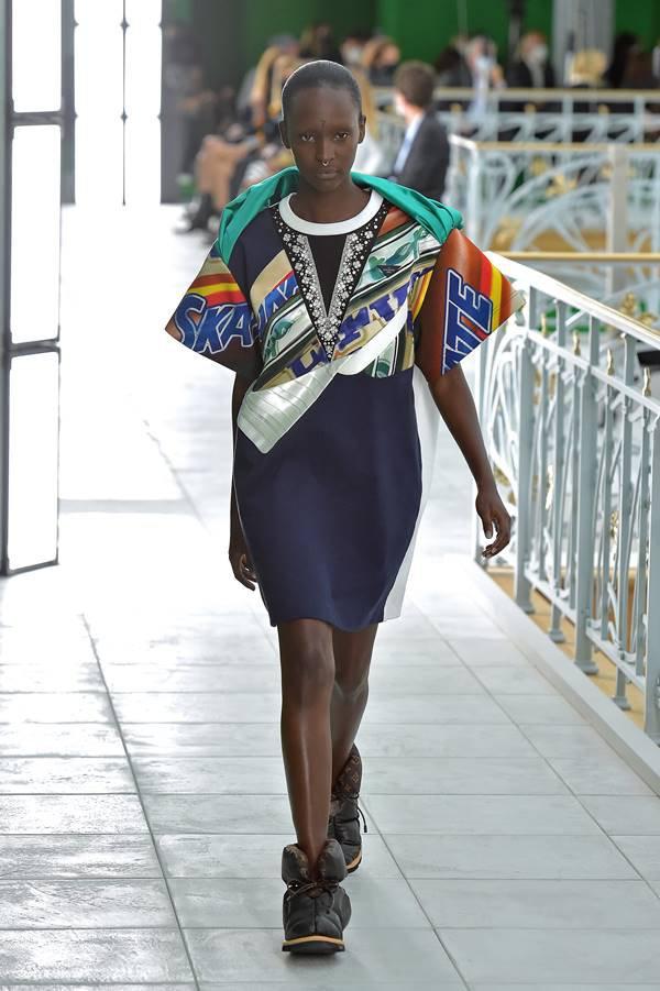 Look na passarela da Louis Vuitton de primavera/verão 2021