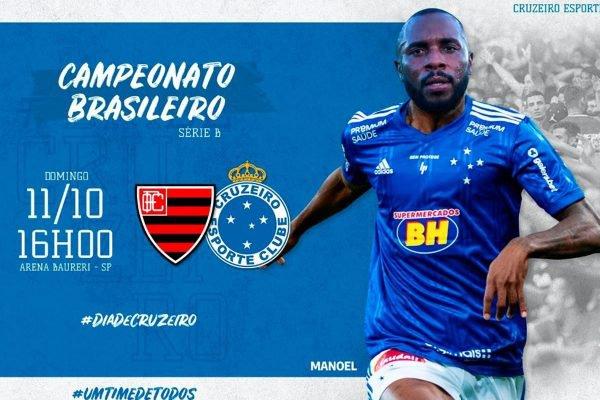 Montagem do Cruzeiro com zagueiros Manoel e Cacá
