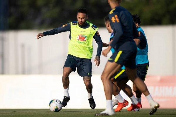 seleção brasileira treina