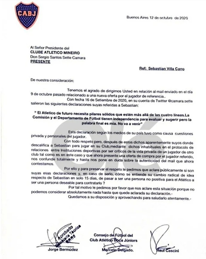 Documento Boca Juniors