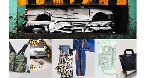 Produtos feitos com descartes de automóveis