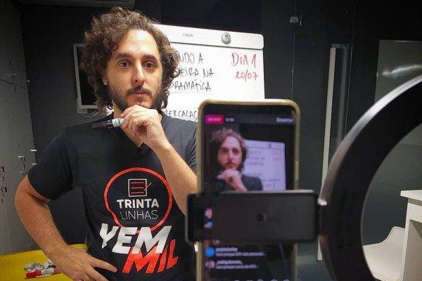 Professor Bruno Rodrigues, do perfil Trintalinhas