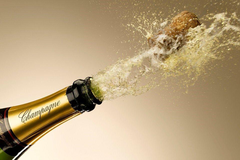 champanhe estourado